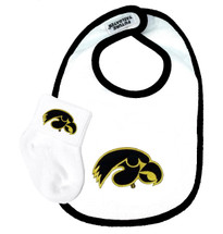 Iowa Hawkeyes Bib and Socks Baby Set