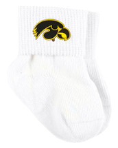 Iowa Hawkeyes Baby Sock Booties