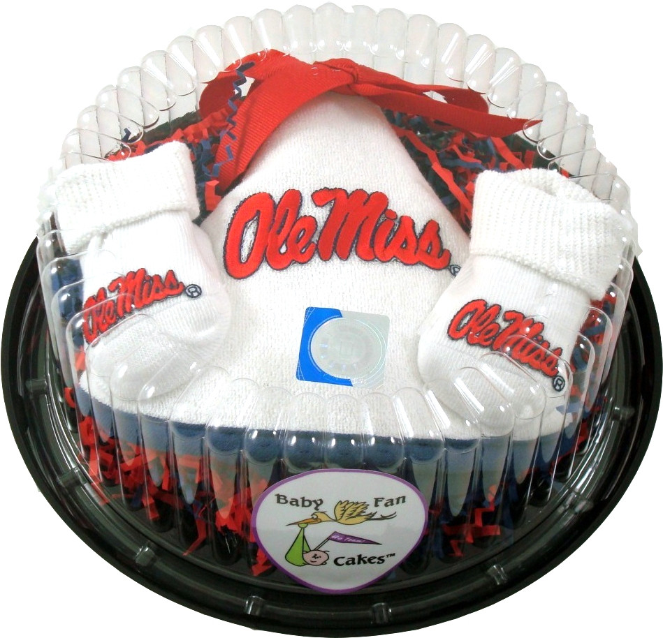 Peachy Mississippi Ole Miss Rebels Piece Of Cake Baby Set Funny Birthday Cards Online Fluifree Goldxyz