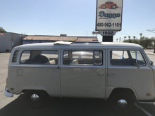 68-79 VW Bus 46x48 Sliding Ragtop Folding Sunroof Kit Installed Side View