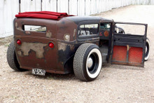 "28-31 Ford Model A Sedan (Tudor) Sliding Ragtop 40""x70"" Installed Rear"