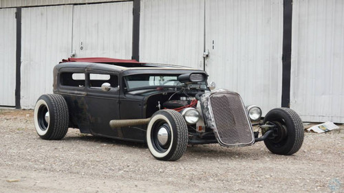 "28-31 Ford Model A Sedan (Tudor) Sliding Ragtop 40""x70"" Installed"