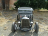 "28-31 Ford Model A Coupe Sliding Ragtop 40""x40"" Installed Closed"