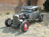 "28-31 Ford Model A Coupe Sliding Ragtop 40""x40"" Installed Closed Front"