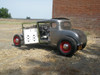 "28-31 Ford Model A Coupe Sliding Ragtop 40""x40"" Installed Open Side"