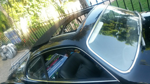 VW Ghia W/ Legacy Products Sliding Ragtop Installed (Close up)