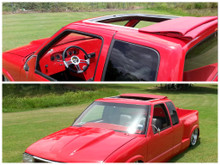 94-01 Chevy/GMC S10 & Sonoma Ext Cab Sliding Ragtop Folding Sunroof Kit Installed
