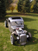 "Rat Rod (Ratrod) Truck Sliding Ragtop 40""x25"" Top View"