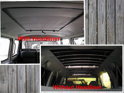 "1976-1983 Mini 35""  x  45"" Sliding Ragtop Folding Sunroof Kit Installed Front View  Ragtop Headliner Option"