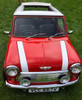 "1976-1983 Mini 35""  x  45"" Sliding Ragtop Folding Sunroof Kit Installed Front View"