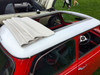 "1976-1983 Mini 35""  x  45"" Sliding Ragtop Folding Sunroof Kit Installed Rear View"