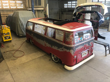"68-79 VW Bus 46""x72"" Early Size Sliding Ragtop (Fits Sunroof Bus)"