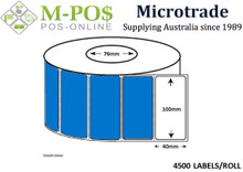 Barcode Labels |Thermal Transfer Labels | 100x40x76 | Microtrade