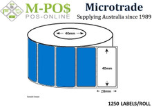 Barcode Labels | Direct Thermal Labels | 40x28x40 | Removable  | Microtrade