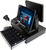 "Point of Sale All in one POS Terminal Dual 15"" Screen all hardware WIFI"