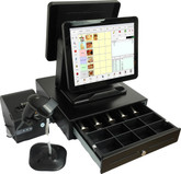 "Point of Sale Dual 15"" Touch Terminal, Retail or Restaurant Software"