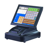 15 inch touch screen POS Cash Register with printer