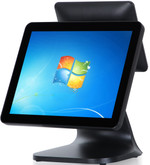 "15.6"" POS Terminal .Solid Aluminium Housing with 12"" Customer Display Black MPOS-219B2SC"
