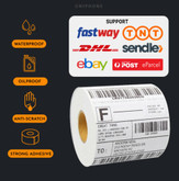 Direct Thermal Printer Compatible Labels 100mm x 150mm 350 Labels/Roll
