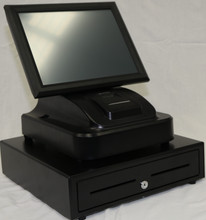 """15"""" Touch Screen POS Cash Register With Printer & Cash Drawer Inc POS Software"""
