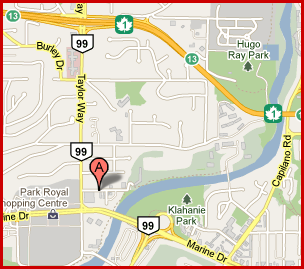 Map and Location of Gliga Violin Store in Vancouver, Canada