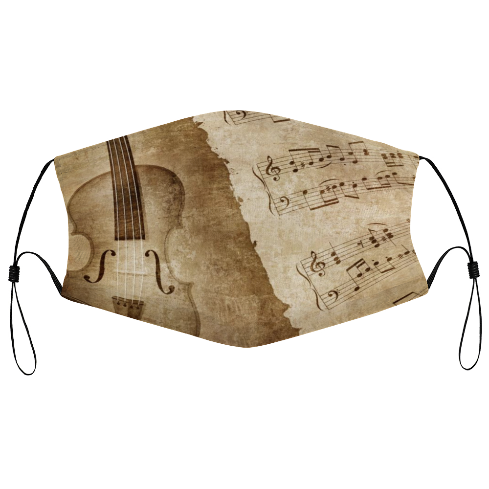 Violin Mask - Antique Violin - Detail
