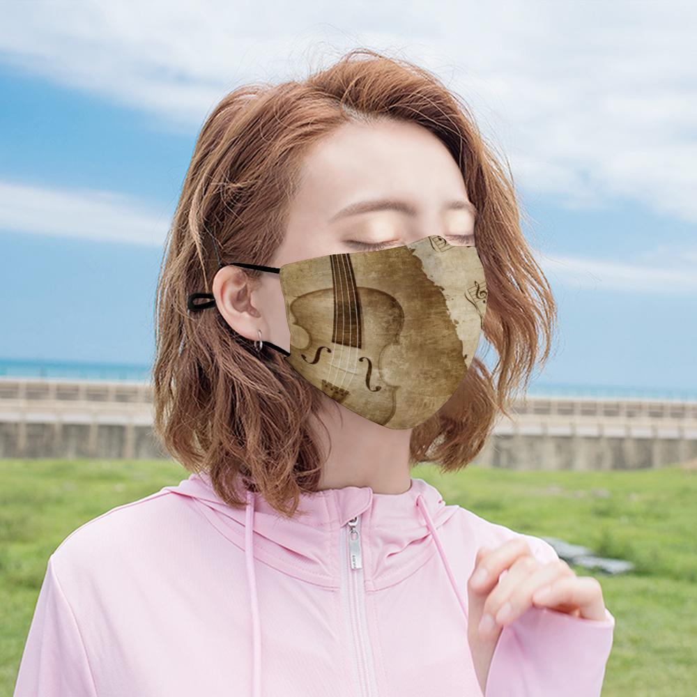 Violin Mask - Antique Violin - Girl