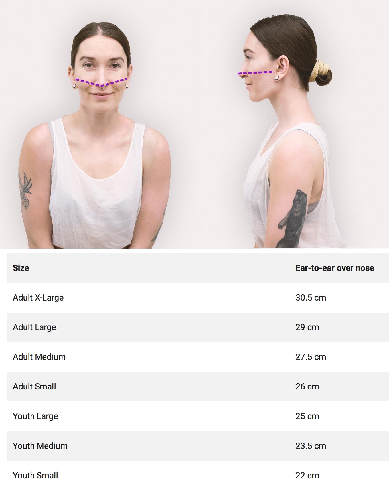Violin Face Mask Measurement