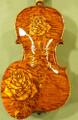 Unique Gliga Maestro Masterpiece Violin, Bird's Eye Wood,  Rose Carving - Stradivari Design - Code C5705