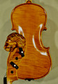 4/4 MAESTRO VASILE GLIGA Inlaid Relief Wood Carving 'Lion' Scroll One Piece Back Violin - Code C7941V