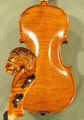 4/4 MAESTRO VASILE GLIGA Inlaid Relief Wood Carving 'Lion' Scroll One Piece Back Violin - Code C8309V