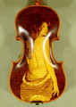 4/4 MAESTRO VASILE GLIGA 'NUDE' Pyrogravure One Piece Back Violin - Code B1050