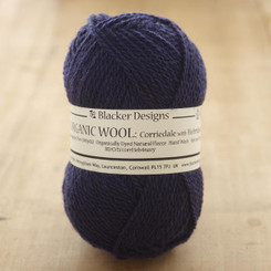 Organic Corriedale/Hebridean Navy over-dyed 4-ply knitting yarn
