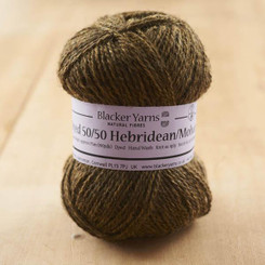 Hebridean/Mohair Gold over-dyed 4-ply knitting yarn