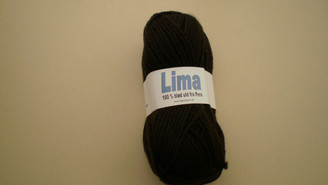 Lima yarn in Shade 409 Dark Brown