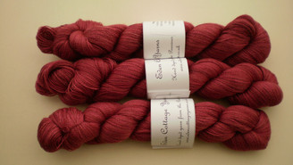 Eden Cottage Pegasus Lace Yarn in Carnelian/Dog Wood