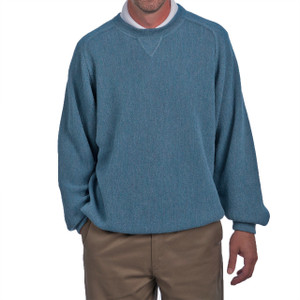 Men's Alpaca Crew Sports Pullover Sweatshirt Front