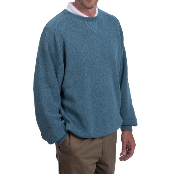 Men's Alpaca Crew Sports Pullover Sweatshirt Side