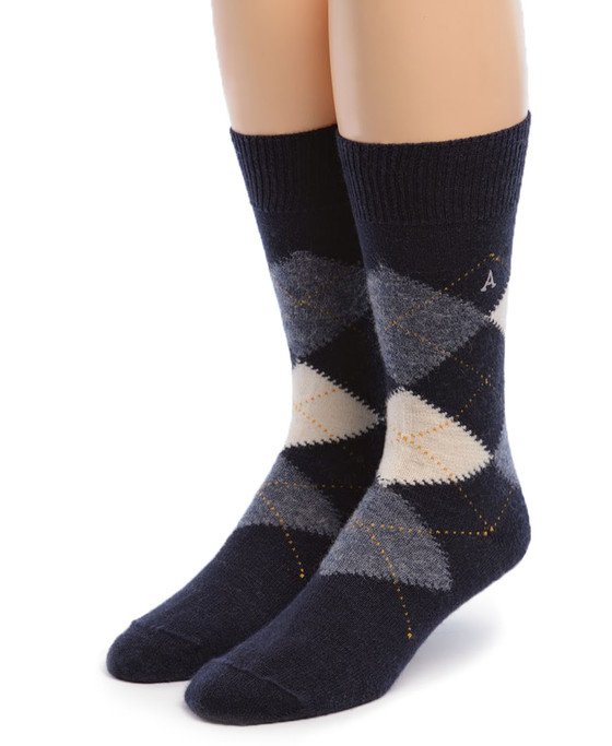 Men's Argyle Alpaca Golf Socks Front