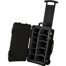 Pelican Carry On 1510 Case with Dividers (Black) and Lid Organizer 12 day/48 week/96 month