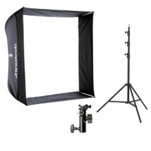 "28"" Apollo Speedlight Softbox with 8' Stand and Bracket Kit 10 day/40 week/80month"