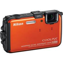 Coolpix AW100 Waterproof Digital Camera (Orange) 15 day/60 week/120 month