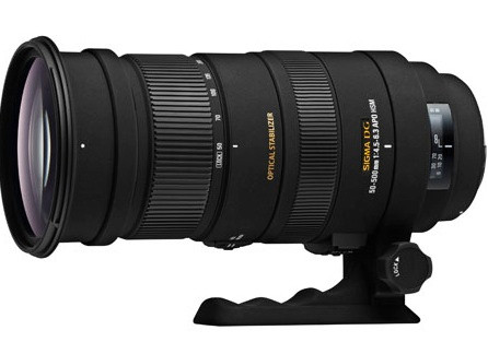 3454511a Sigma 50-500mm f/4.5-6.3 APO DG OS HSM SLD Ultra Telephoto Zoom Lens ...