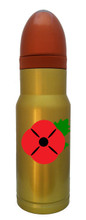 Red Poppy Remembrance Brass Hollow Point  AmmOMug®
