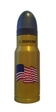 American Flag Brass Std AmmOMug with Personaliztion!