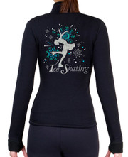 Fitted Skating Fleece Jacket with Spangles S100