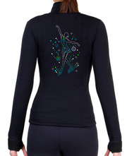 Fitted Skating Fleece Jacket with Spangles S101