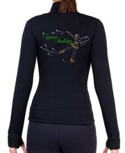 Fitted Skating Fleece Jacket with Spangles S106