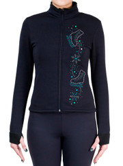 Fitted Skating Fleece Jacket with Spangles S108