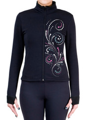 Fitted Skating Fleece Jacket with Spangles S112